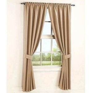 Heavy textured curtains 2 panels